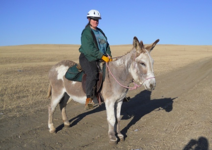 Marna's first ride on Jasper  2011-11-07