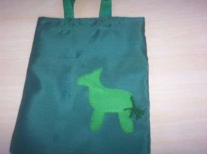 Donkey Green Shopping Bag