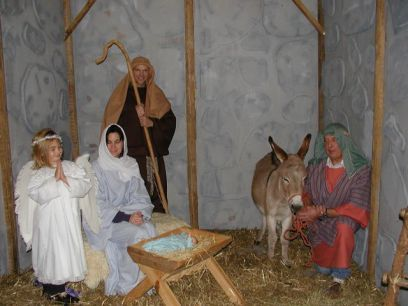 Marion's Daddy's Darlin' Donkeys 2004 Nativity Scene