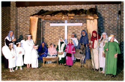 Marion's Daddy's Darlin' Donkeys Nativity Scene