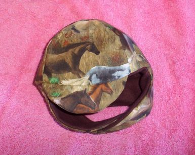 Horse Print Musher-Style Hat